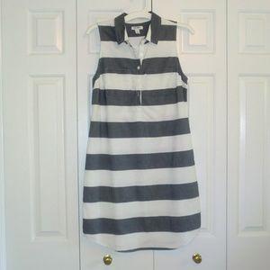 Old Navy White Chambray Striped Shirtdress S